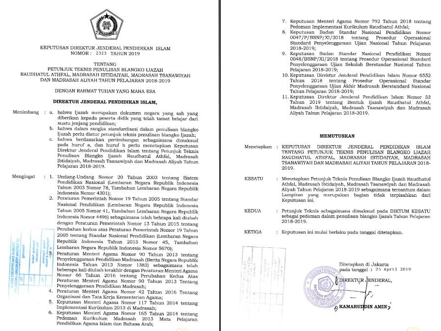 Photo of Download Juknis Penulisan Blangko Ijazah Ra, MI, MTs, dan MA Terbaru 2019